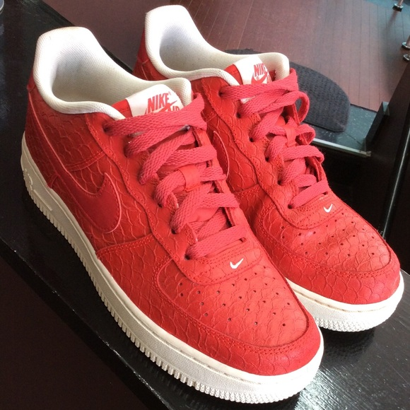 Nike Other - Nike Air Force ones red